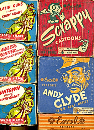 Vintage Films Westerns-cartoon-humor Set Of 6