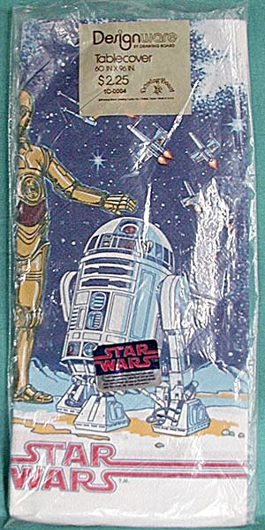 Vintage Star Wars Paper Table Cloth