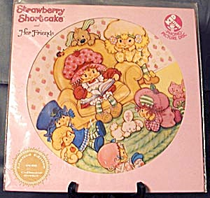 Vintage Strawberry Shortcake Picture Record (Image1)