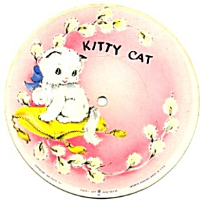Ten Little Indians Kitty Cat Picture Disc 45 Rpm Record