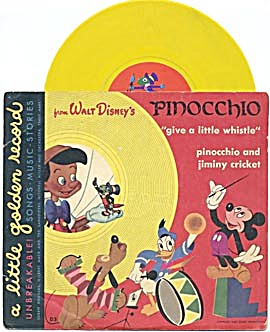 Walt Disney's Pinocchio Give A Little Whistle