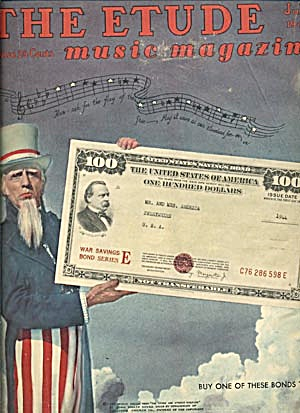 Vintage The Etude Music Magazine Uncle Sam (Image1)
