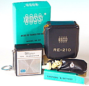 Vintage Ross Transistor Radio Re-210 Complete