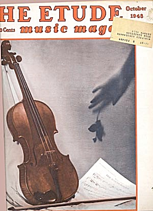 Vintage The Etude Music Magazine March & Oct, 1948 (Image1)