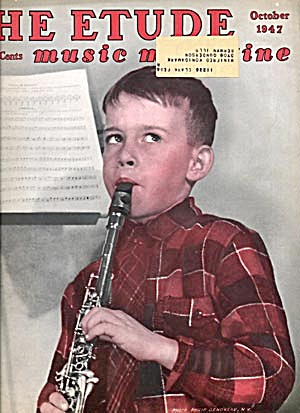 Vintage The Etude Music Magazine July & Oct. 1947