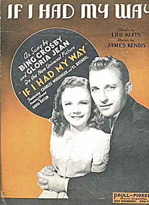 Bing Crosby and Gloria Jean If I Had My Way (Image1)