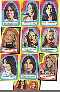 Vintage 1977 Charlie's Angels Stickers (Image1)