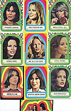 Vintage Charlie's Angels Stickers Set Of 10