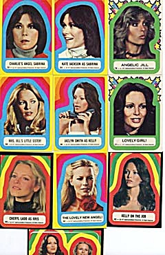 Vintage Charlie's Angels Stickers 1977 (Image1)