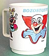 Vintage Bozo The Clown Plastic Mug