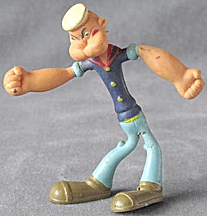 Vintage Popeye The Sailor Man Bendable Figure