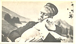 Captain Kangaroo Hugging A Lamb