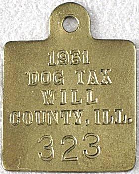 Vintage Brass Dog Tag (Image1)