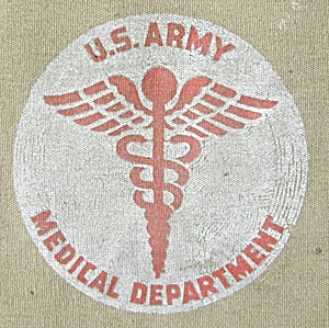 Vintage U.S. Army Medical Department Stretcher  (Image1)