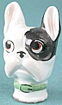 Vintage Porcelain Dog Carnival Walking Stick Head (Image1)