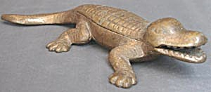 Brass Alligator Match Safe (Image1)