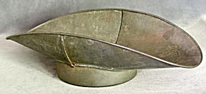 Vintage Metal Scoop Pan For Scale
