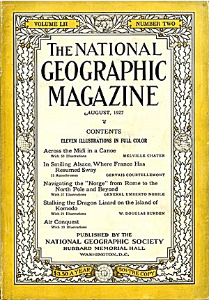 Vintage National Geographic 1927