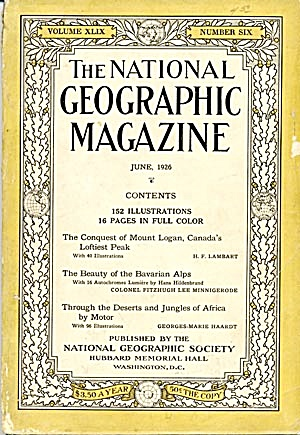 Vintage National Geographic 1926