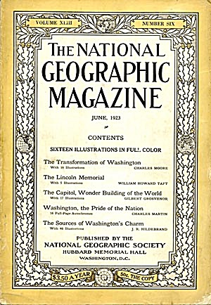 Vintage National Geographic 1923