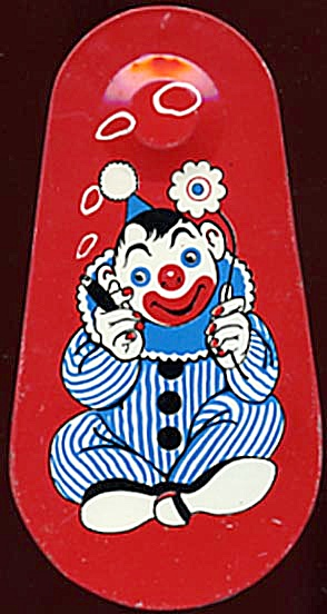 Vintage Tin Clown Noise Maker (Image1)