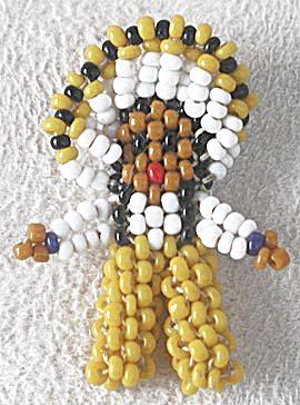 Vintage Native American Indian Beaded Doll (Image1)