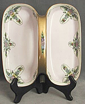 Vintage Nippon Hand Painted Handled Serving Dish (Image1)
