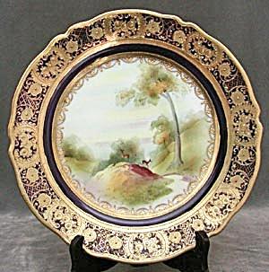 Vintage Nippon Deer Plate with Cobalt (Image1)