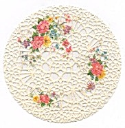 Plastic Lace Floral Coasters Set Of 6