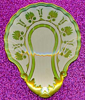 Vintage Green & Gold Ladle Rest (Image1)