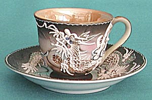 Vintage Dragonware, Moriage Cup and Saucer (Image1)