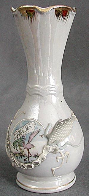 Vintage Dragonware Blue Luster Vase (Image1)