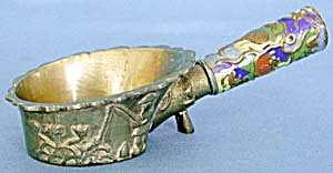 Chinese Brass And Enamel Cloisonne Iron