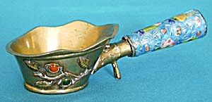 "Chinese Brass And Enamel Cloisonne 7"" Iron"
