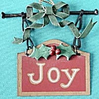 Metal Joy Sign Christmas Ornament (Image1)
