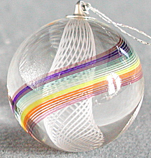 Vintage Glass Marble Christmas Tree Ornament