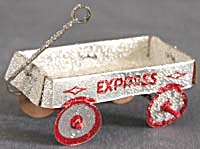 Vintage Paper Wagon Christmas Ornament
