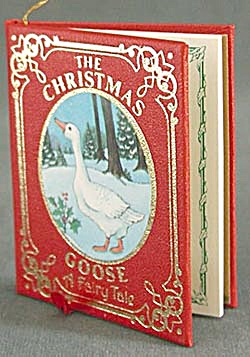 Vintage The Christmas Goose Book Ornament