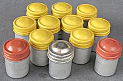 Vintage Metal Film Canisters Set Of 12
