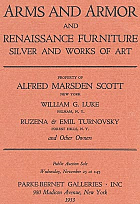 Arms & Armor & Renaissance Furniture Silver & Works Art