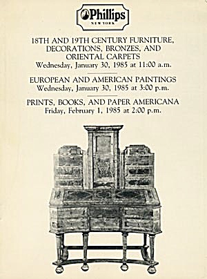 Phillips Auction Catalog Of Paintings, Paper Americana,