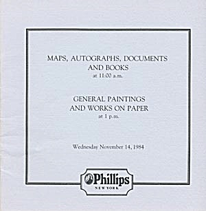 2 Phillips Auction Catalogs on Maps, Books, (Image1)