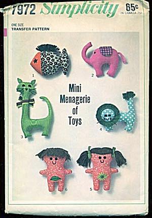 Vintage Simplicity Mini Menagerie Pattern #7972 (Image1)
