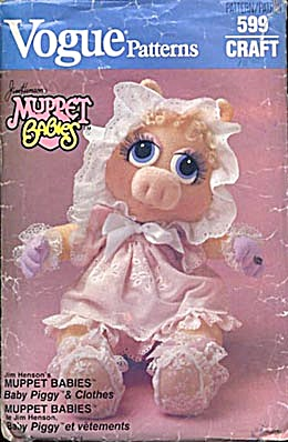Vogue Muppet Babies Baby Miss Piggy Clothes Pattern (Image1)