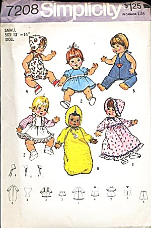 Vintage Small Baby Doll Pattern (Image1)