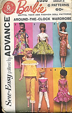 Vintage Around The Clock Barbie Wardrobe Pattern (Image1)
