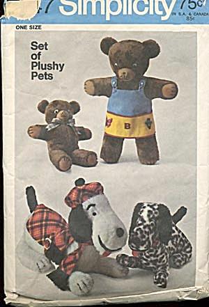 Vintage Simplicity Teddy Bear Pattern (Image1)