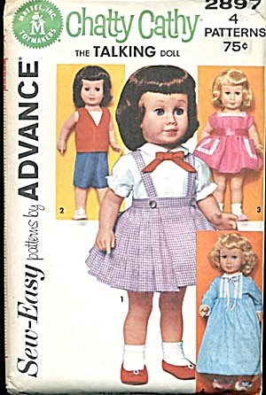 Vintage Chatty Cathy Wardrobe Pattern 1962 (Image1)