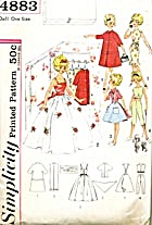 "Vintage Simplicity Wardrobe for 12"" Doll (Image1)"