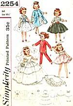 Vintage Simplicity Wardrobe for Little Miss Revlon  (Image1)